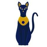 Statue cat egypt - goddess Bastet. Egyptian idols Royalty Free Stock Photography