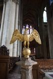Statue in the cathedral Notre Dames at Reims Royalty Free Stock Photography