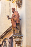 Statue on Cathedral in Seville Spain Royalty Free Stock Photography