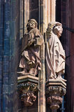 Statue on the cathedral in Strasbourg Royalty Free Stock Images