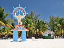 A statue in Cayo Blanco at Cuba. Royalty Free Stock Image
