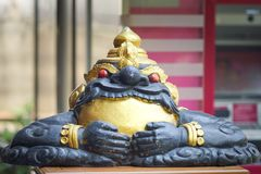 A statue of celestial monster which causes elipses by eating the sun or moon Rahu Royalty Free Stock Photo