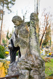 Statue in a cemetery Stock Photography