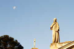 Statue in the Cemetery of Recoleta. Stock Photos