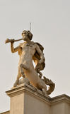 Statue of a centaur blowing his horn Stock Photo