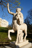 Statue of the Centaur in Pavlovsk. Royalty Free Stock Photo