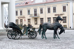 Statue in the center of the city in Minsk, Belarus. Stock Photo