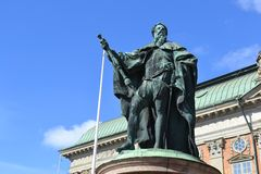 Statue in the center of Stockholm Royalty Free Stock Photo