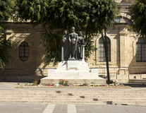Statue in the center of Valletta, Malta Stock Photography