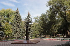 Statue in central Bishkek royalty free stock images