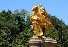 Statue in central park Royalty Free Stock Photo