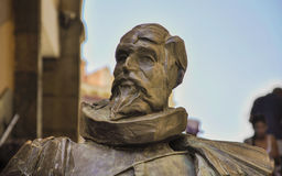 Statue of Cervantes in Toledo, Spain Stock Images