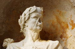 Statue of Cesar with broken nose. Statue with broken nose nose: breathing is difficult Stock Photography