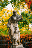 Statue in Cesky Krumlov, Tschechische Republik Stockfotografie