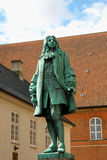The statue of Chancellor Peder Griffenfeld and a tower in Copenh Royalty Free Stock Photography