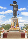 Statue of Chao Anouvong in Vientiane Stock Photos