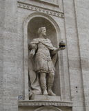 Statue of Charlemagne in Rome. Statue of Charlemagne in Saint Louis cathedral of Rome, Italy Royalty Free Stock Photos