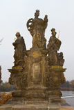 Statue from Charles Bridge Royalty Free Stock Photography