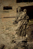 Statue from Charles bridge Royalty Free Stock Photos