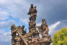 Statue Charles Bridge Royalty Free Stock Images