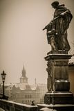 Statue on a Charles bridge Stock Photo