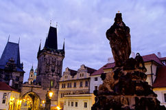 Statue- Charles Bridge, Prague Royalty Free Stock Photo