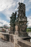 The statue on the Charles bridge Prague Czech Republic Stock Photography