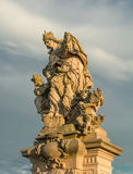 Statue on charles bridge prague Royalty Free Stock Photography