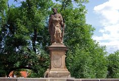 Statue on Charles Bridge, Prague. Stock Photography