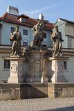 Statue on the Charles Bridge in Prague Royalty Free Stock Image