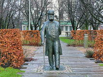 Statue of Charles Felix Lindberg in Gothenburg, Sweden Royalty Free Stock Photos