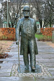 Statue of Charles Felix Lindberg in Gothenburg, Sweden Stock Photos