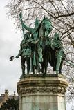 Statue of Charles the Great Charlemagne situated just outside. Paris, France - December 8, 2017: Statue of Charlemagne Charles the Great king of the Frank and Stock Image