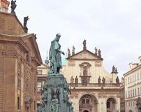 Statue of Charles IV. Stock Image