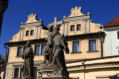 The statue of Charles IV Stock Photography