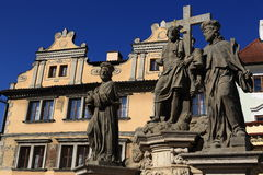 The statue of Charles IV Stock Images