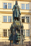 Statue of Charles IV in Prague, Czech Republic. Stock Photo