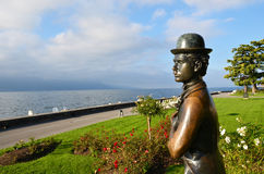 Statue of Charlie Chaplin Royalty Free Stock Photography