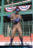Statue of Chicago Cub Ernie Banks. A statue of Chicago Cub Ernie Banks, also known as Mr. Cubs, stands before Wrigley Field in Chicago Stock Image