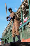 Statue of Chicago Cub Ernie Banks. A statue of Chicago Cub Ernie Banks, also known as Mr. Cubs, stands before Wrigley Field in Chicago Stock Photos