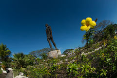 Statue of Chief Quipuha, Hagåtña, Guam. Pacific Ocean n Island of Guam's first Catholic chief. n stock photography