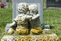 Statue of Children at Cemetery Royalty Free Stock Image