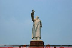 Statue of China's former Chairman Mao Zedong. A Statue of China's former Chairman Mao Zedong in Chengdu Royalty Free Stock Images