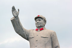 A Statue of China's former Chairman Mao Zedong. In the city of Kashgar, China Royalty Free Stock Image