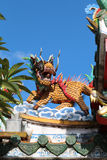 Statue of Chinese dragons Stock Image