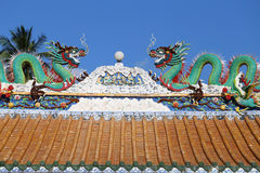 Statue of Chinese dragons Stock Images