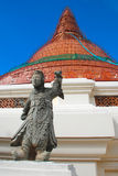 Statue of Chinese god at phra pathom chedi Temple Royalty Free Stock Images