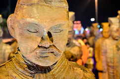 Statue of Chinese historical person Stock Images