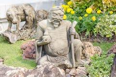 Statue of chinese man at Wat Phra Ka Royalty Free Stock Photography