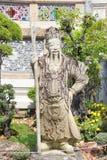 Statue of chinese man at Wat Phra Ka Stock Image